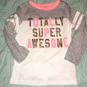 Toddler's Long Sleeve Baseball style top - size 3T